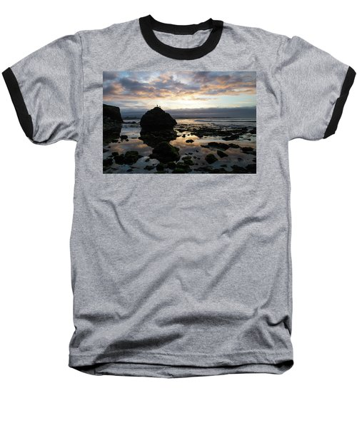 Baseball T-Shirt featuring the photograph Clouds In The Sea by Lora Lee Chapman