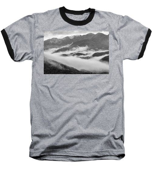 Baseball T-Shirt featuring the photograph Clouds In Valley, Sa Pa, 2014 by Hitendra SINKAR