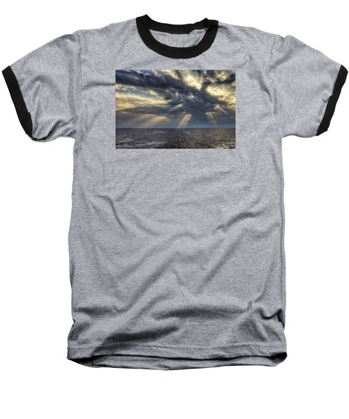Baseball T-Shirt featuring the photograph Clouds by John Swartz