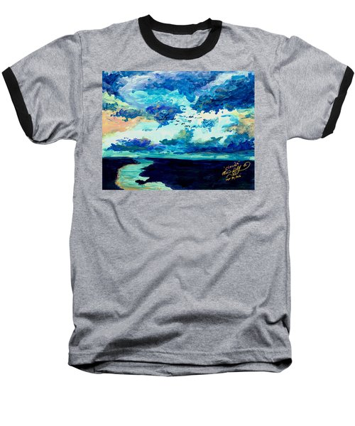 Clouds Baseball T-Shirt by Melinda Dare Benfield