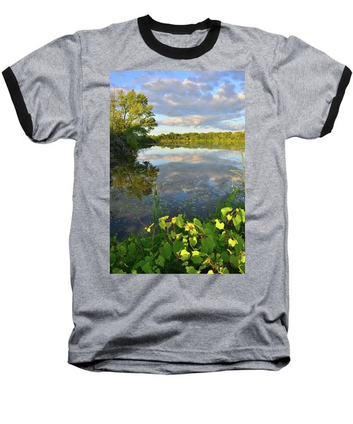 Clouds Mirrored In Snug Harbor Baseball T-Shirt