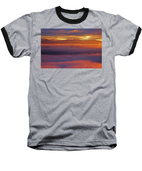 Clouds Of Fire Surround The La Sal Mountains From Dead Horse Point State Park Baseball T-Shirt
