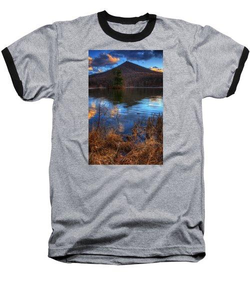 Clouds On Abbott Lake Baseball T-Shirt by Steve Hurt