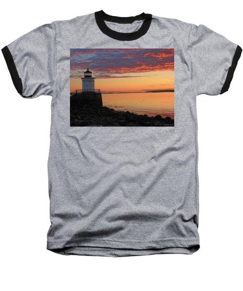 Clouds On Fire Baseball T-Shirt