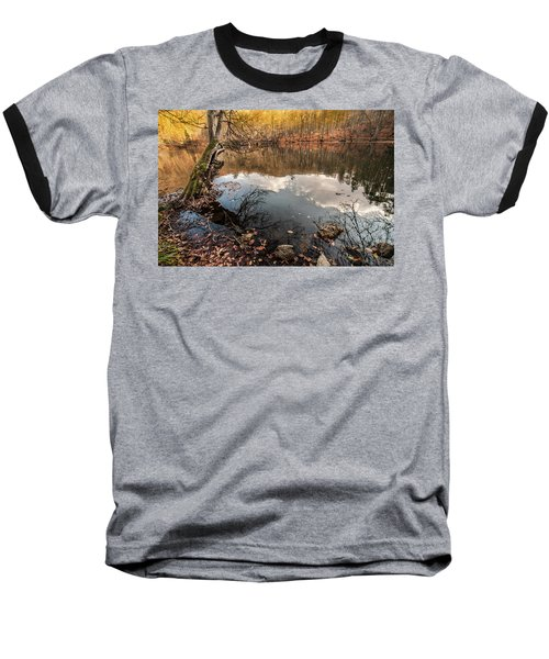 Clouds On The Lake Baseball T-Shirt