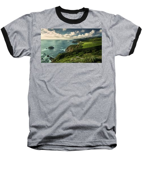 Clouds Over Bixby Bridge Baseball T-Shirt