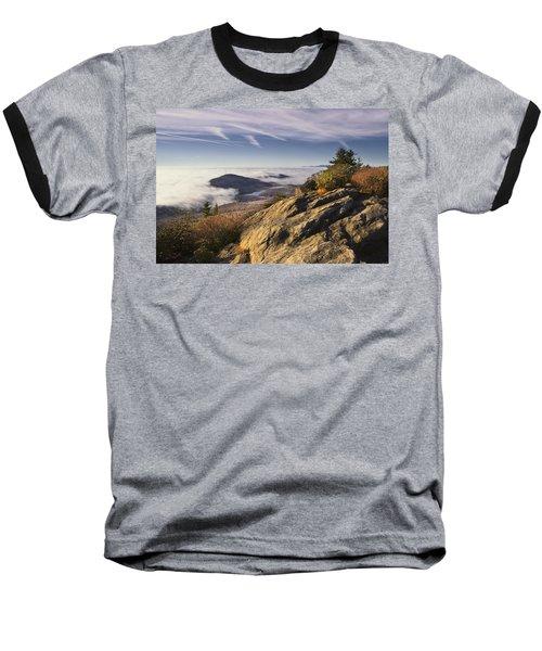Clouds Over Grandmother Mountain Baseball T-Shirt
