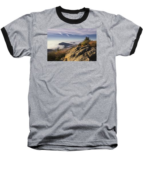 Clouds Over Grandmother Mountain Baseball T-Shirt