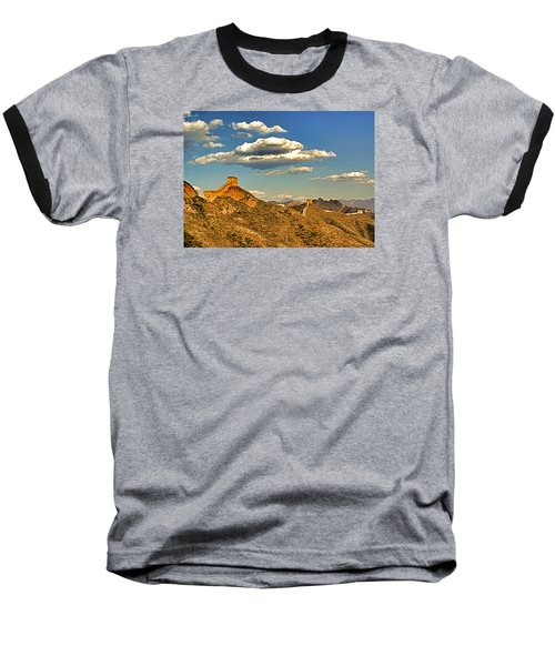 Clouds Over Great Wall Baseball T-Shirt