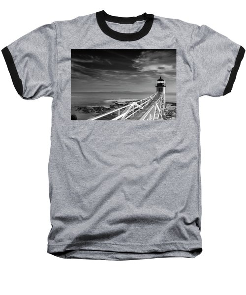 Clouds Over Marshall Point Lighthouse In Maine Baseball T-Shirt