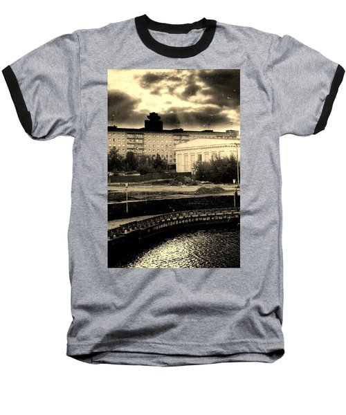 Clouds Over Minsk Baseball T-Shirt by Vadim Levin