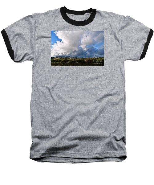 Clouds Over Napa County Baseball T-Shirt