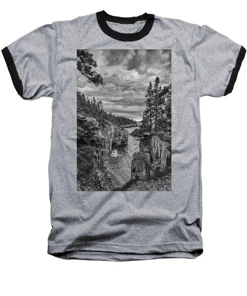 Clouds Over The Cliffs Baseball T-Shirt