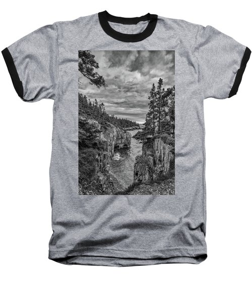 Clouds Over The Cliffs Baseball T-Shirt