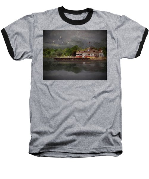 Clouds Over The Harbor Baseball T-Shirt
