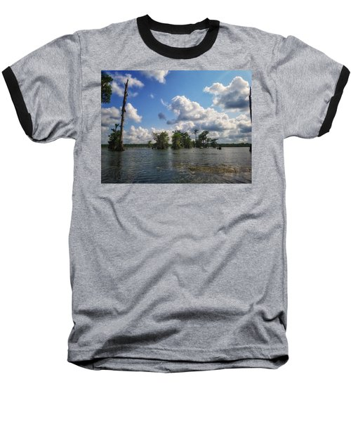 Clouds Over The Louisiana Bayou Baseball T-Shirt