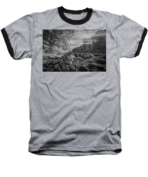 Clouds Over The River Rocks Baseball T-Shirt