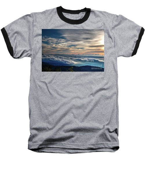 Baseball T-Shirt featuring the photograph Clouds Over The Smoky's by Douglas Stucky
