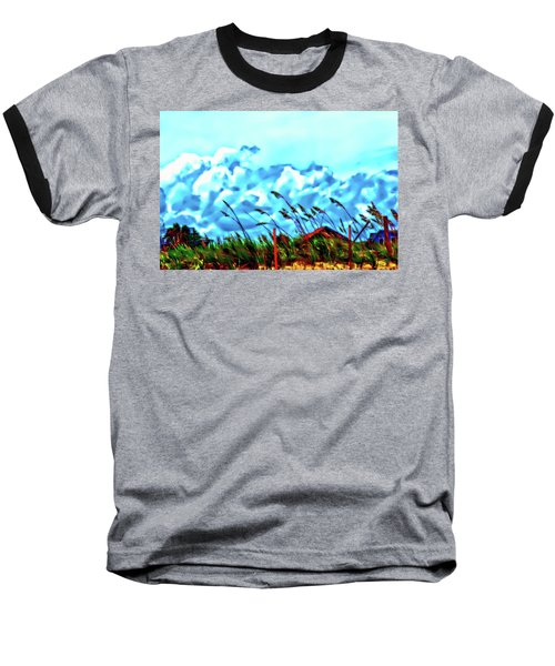 Clouds Over Vilano Beach Baseball T-Shirt