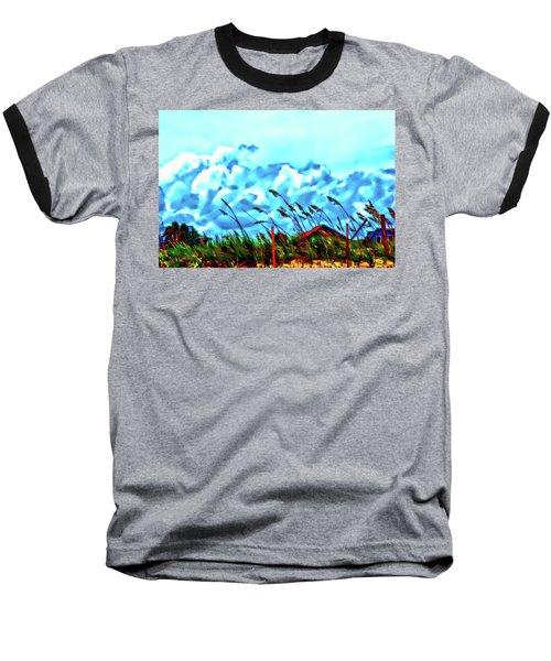 Clouds Over Vilano Beach Baseball T-Shirt