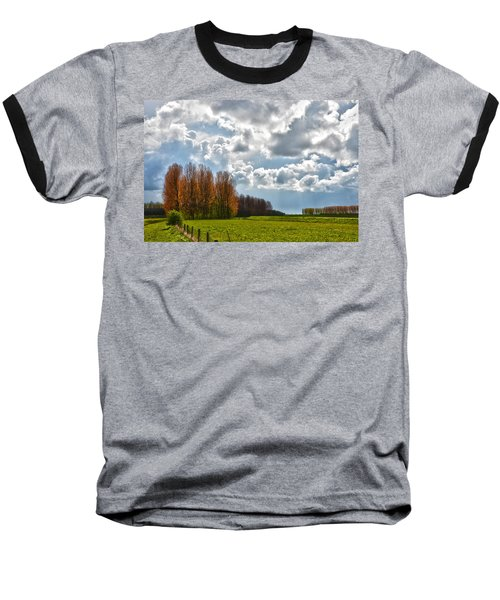 Clouds Over Voorne Baseball T-Shirt