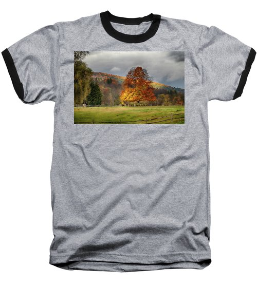 Clouds Part Over Marsh Billings-rockefeller Nhp Baseball T-Shirt