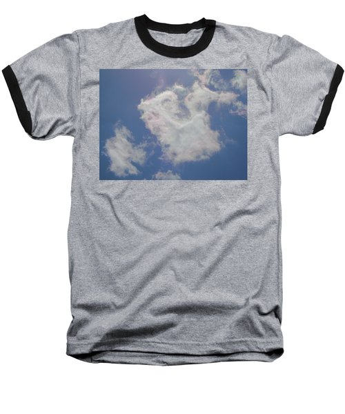 Clouds Rainbow Reflections Baseball T-Shirt by Cindy Croal