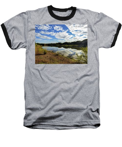 Clouds Reflecting On The Uruguay River Baseball T-Shirt