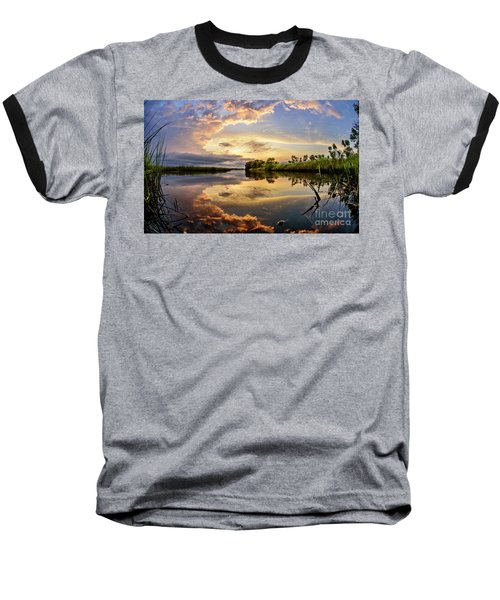 Clouds Reflections Baseball T-Shirt