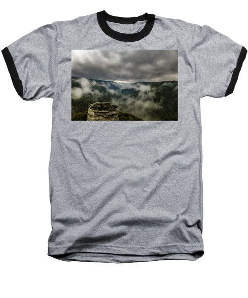 Clouds Rising At Lindy Point Baseball T-Shirt