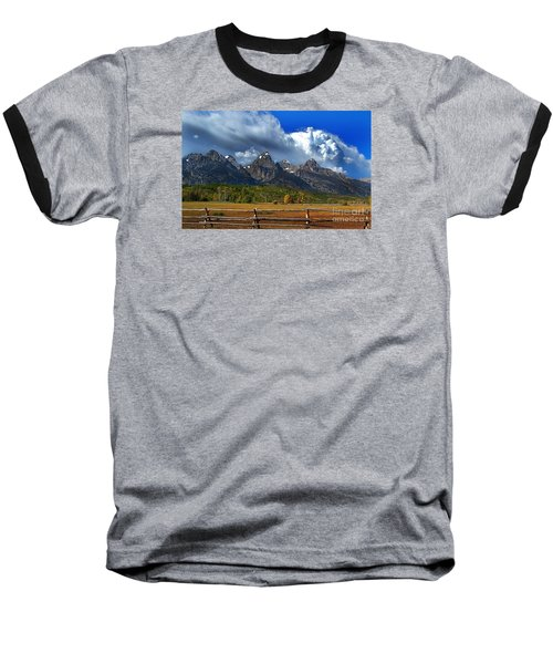 Baseball T-Shirt featuring the photograph Clouds Rising by Diane E Berry