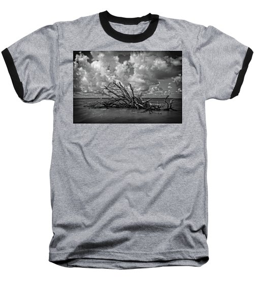 Baseball T-Shirt featuring the photograph Clouds Trees Water by Alan Raasch