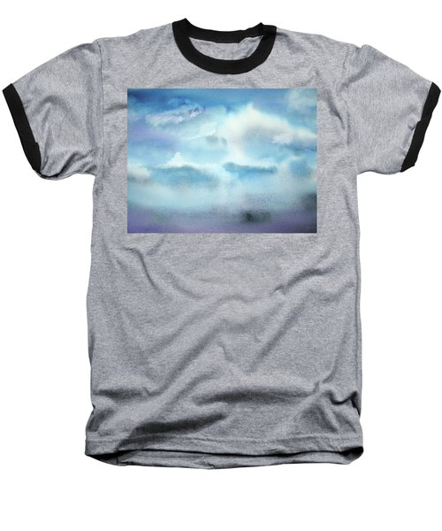 Baseball T-Shirt featuring the painting Cloudscape by Ellen Levinson