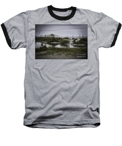 Baseball T-Shirt featuring the photograph Cloudy Beach Day by Judy Wolinsky