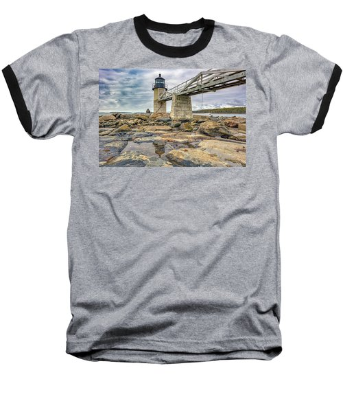 Baseball T-Shirt featuring the photograph Cloudy Day At Marshall Point by Rick Berk