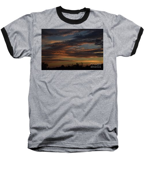 Baseball T-Shirt featuring the photograph Cloudy Kansas Evening by Mark McReynolds
