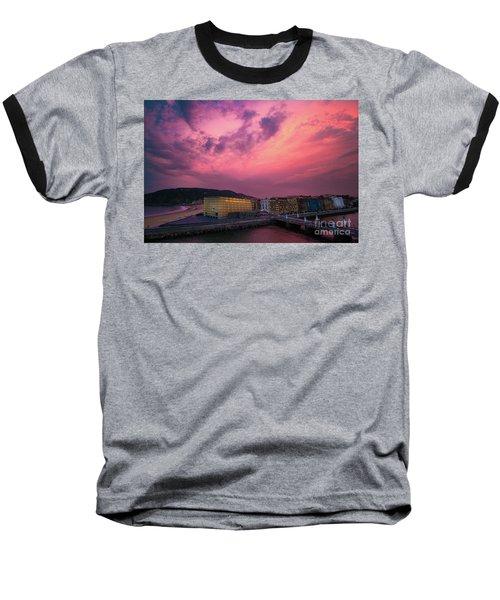 Cloudy  Baseball T-Shirt by Mariusz Czajkowski