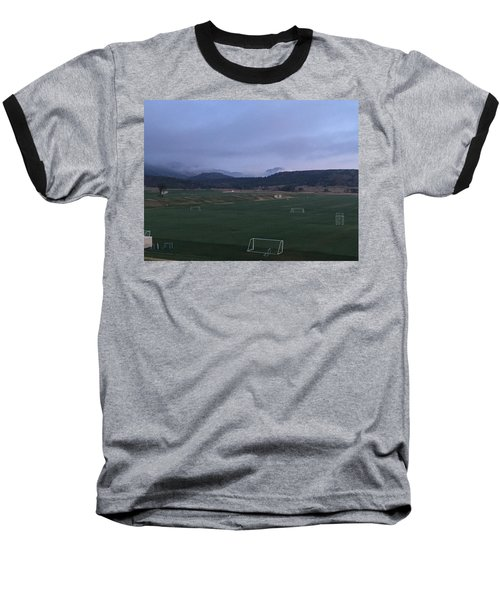 Cloudy Morning At The Field Baseball T-Shirt by Christin Brodie