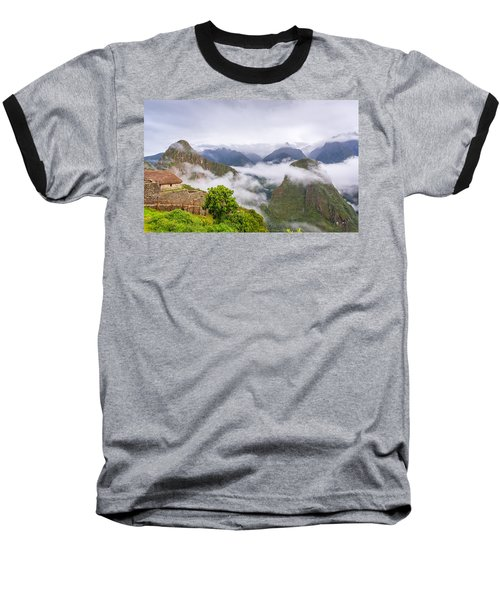 Cloudy Mountains. Baseball T-Shirt