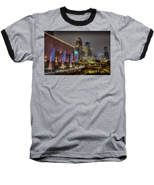 Baseball T-Shirt featuring the photograph Cloudy Night In Houston by David Morefield