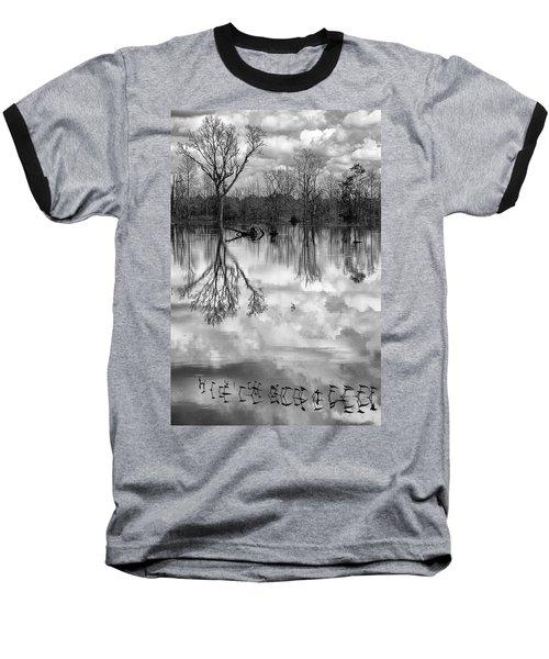 Cloudy Reflection Baseball T-Shirt by Hitendra SINKAR