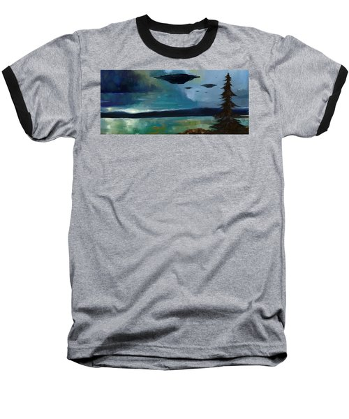 Cloudy Skies Baseball T-Shirt