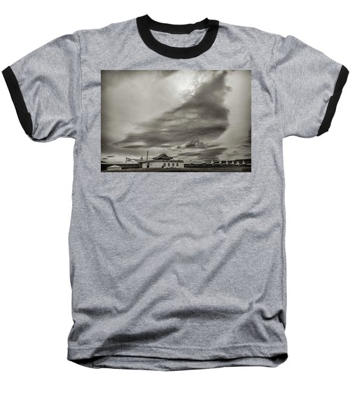 Baseball T-Shirt featuring the photograph Cloudy Sky, Karakorum, 2016 by Hitendra SINKAR