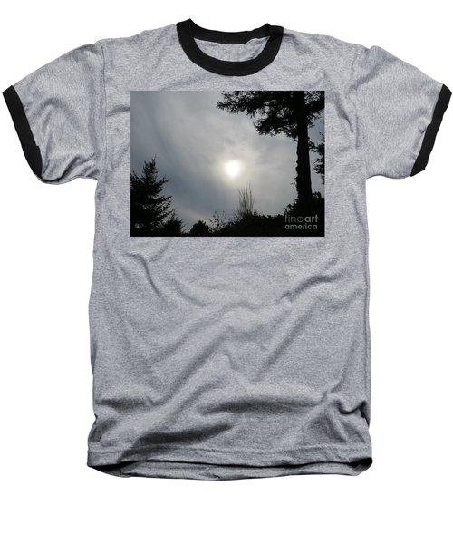 Cloudy Sun Baseball T-Shirt
