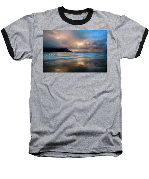 Cloudy Sunset At Hanalei Bay Baseball T-Shirt