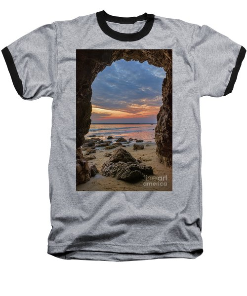 Cloudy Sunset At Low Tide Baseball T-Shirt