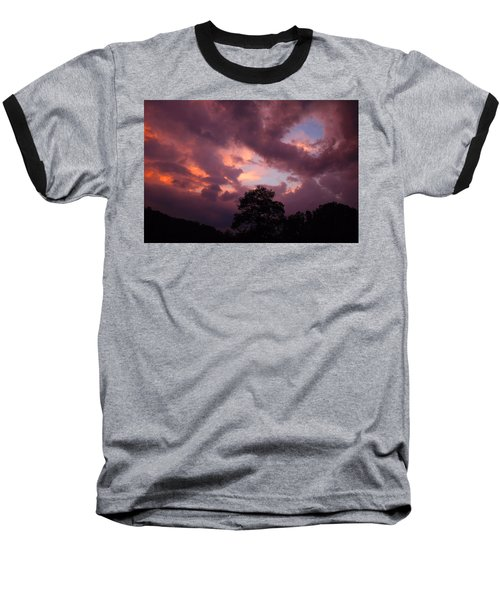 Cloudy Sunset Baseball T-Shirt