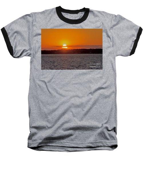 Cloudy Sunset Baseball T-Shirt