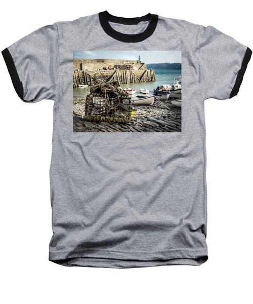 Clovelly Crab Trap Baseball T-Shirt