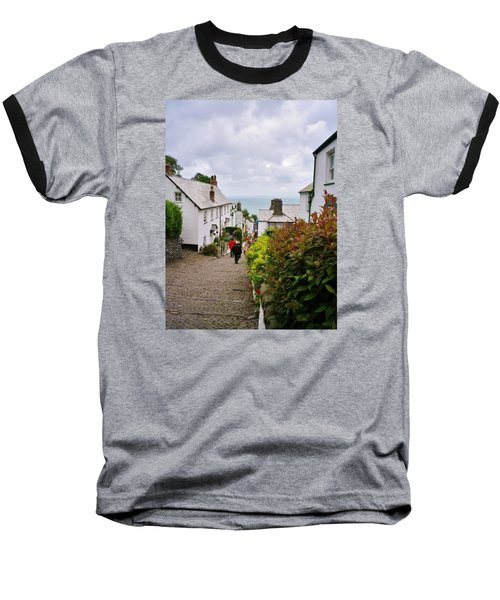 Clovelly High Street Baseball T-Shirt by Richard Brookes